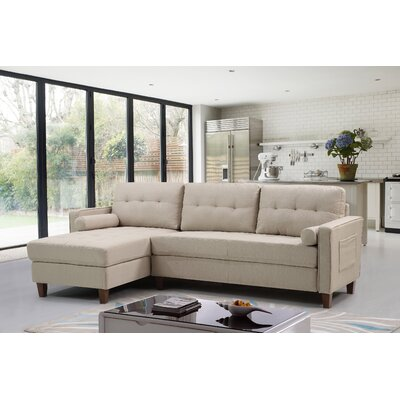 Weatherall Tufted Sectional Upholstery: Beige/Tan