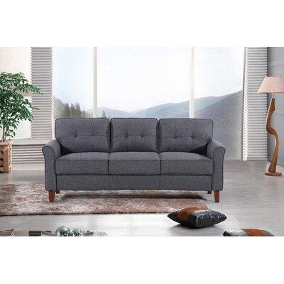 Kouchouk Tufted Mid Century Sofa Upholstery: Dark Gray