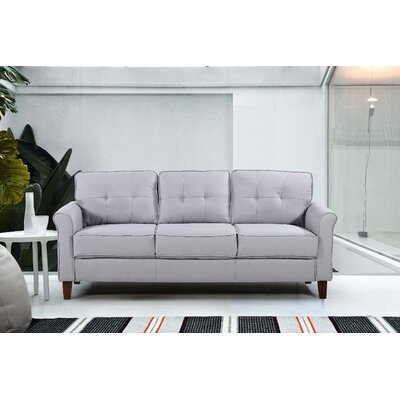 Kouchouk Tufted Mid Century Sofa Upholstery: Light Gray