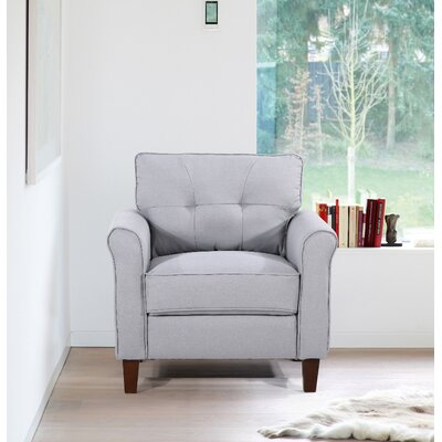 Kouchouk Tufted Mid Century Armchair Upholstery: Light Gray