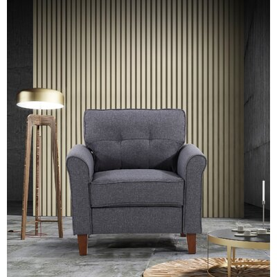 Kouchouk Tufted Mid Century Armchair Upholstery: Dark Gray