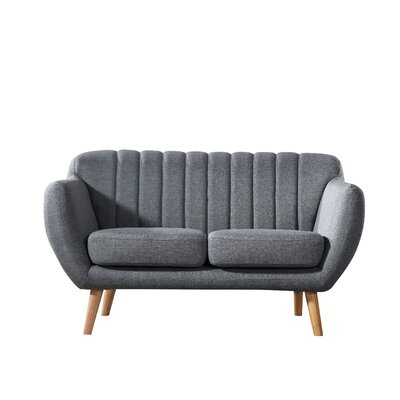 Villalba Sophisticated and Stylish Standard Loveseat Upholstery: Gray