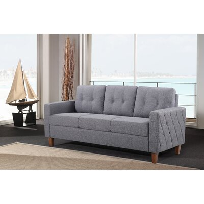 Rossetti Mid Century Tufted Sofa Color: Dark Gray