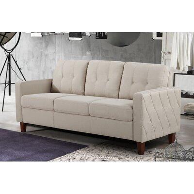 Rossetti Mid Century Tufted Sofa Color: Beige / Tan