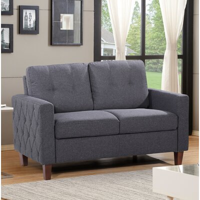 Molinari Tufted Loveseat Upholstery: Dark Gray