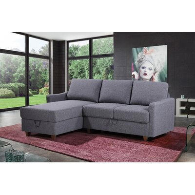 Miers Storage Reversible Sectional (Set of 2) Upholstery : Dark Gray, Orientation: Left Hand Facing