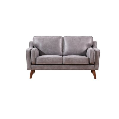 Whaley Modern Luxurious, Loveseat Upholstery: Dark Gray