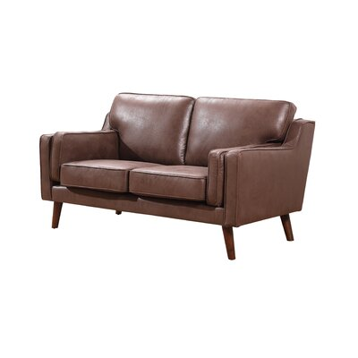 Whaley Modern Luxurious, Loveseat Upholstery: Brown/Tan