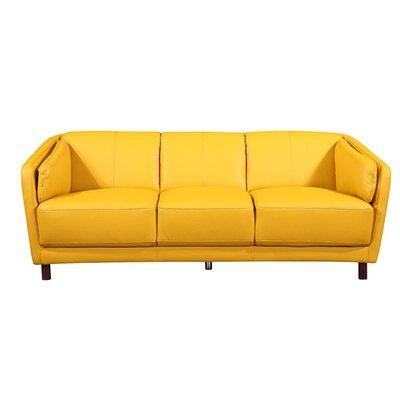 Evertsen Mid-century Modern Sofa Upholstery: Yellow/Mustard