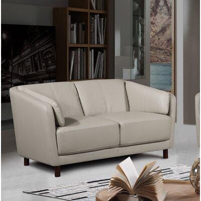 Whitesides Mid-century Modern Loveseat Upholstery: Gray