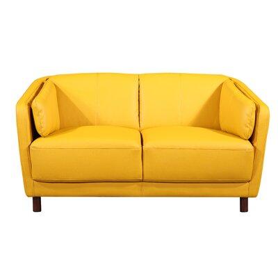 Whitesides Mid-century Modern Loveseat Upholstery: Yellow/Mastard