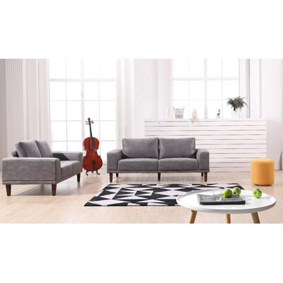 Church Modern Luxurious Loveseat Upholstery: Dark Gray