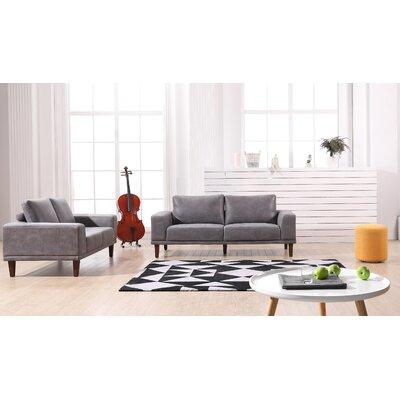 Church Modern Luxurious Loveseat Upholstery: Dark Gray