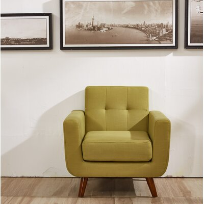 Lester Armchair Upholstery: Olive Green