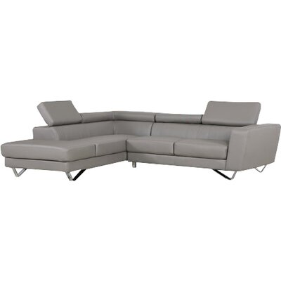 Delia Sectional Orientation: Left Hand Facing, Upholstery: Grey