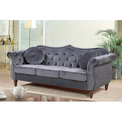 Holder Nailhead Chesterfield Sofa Upholstery: Gray