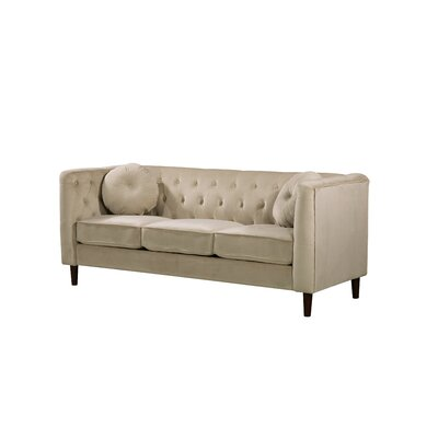 Kitts Classic Chesterfield Sofa Upholstery: Ivory