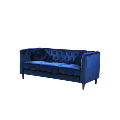 Kitts Classic Chesterfield Sofa Upholstery: Blue