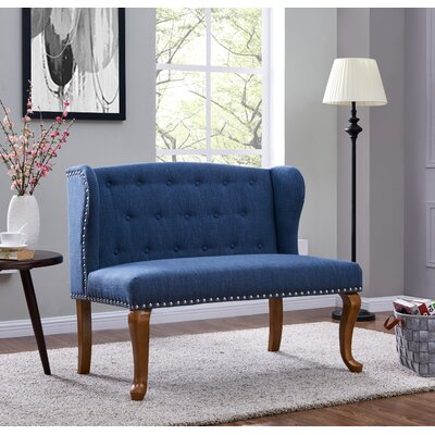 Cowles Tufted Chesterfield Loveseat Upholstery: Dark Blue
