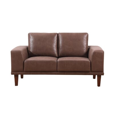 Church Modern Luxurious Loveseat Upholstery: Brown/Tan