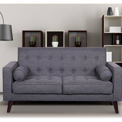 Morre Loveseat Upholstery: Dark Grey