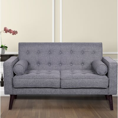 Morre Loveseat Upholstery: Light Grey