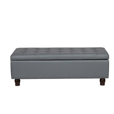Storage Ottoman Upholstery Color: Gray