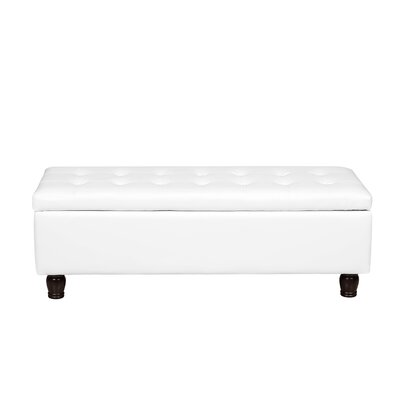 Storage Ottoman Upholstery Color: Cream White