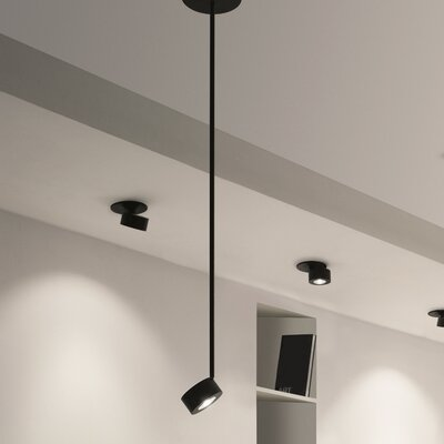 Favilla 1-Light Mini Pendant Finish: Black Matte, Size: 28