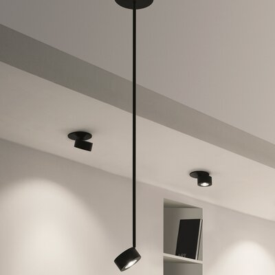 Favilla 1-Light Mini Pendant Finish: Black Matte, Size: 47