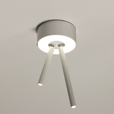 Virtus 3-Light Semi Flush Mount