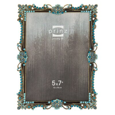 Armitage Metal with Floral Jewels Picture Frame 2540-0457