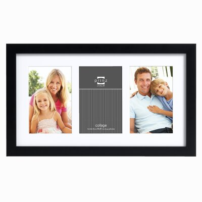 PRINZ Three Opening Gallery Expressions Styrene Picture Frame - Color: White