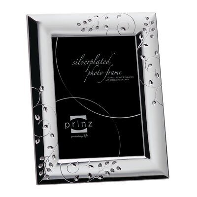 "Whitley Silverplated Metal with Jewels Picture Frame Size: 8"" x 10"" 2210-981"