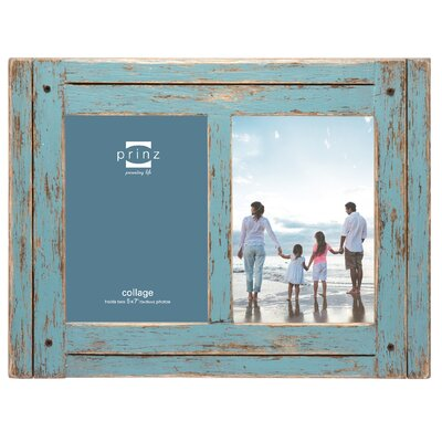 Wood Picture Frame Color: Blue BCHH6174 39867529