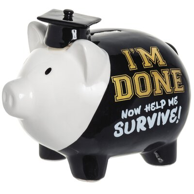 'I'm Done Now Help Me Survive!' Piggy Bank 6620-6010