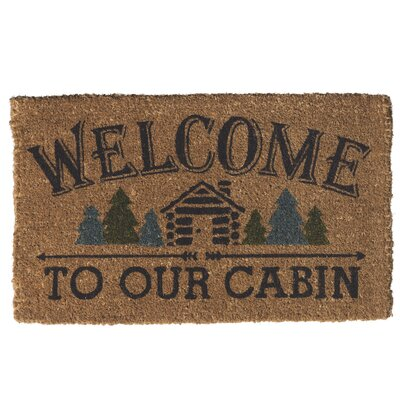 Welcome To Our Cabin Doormat