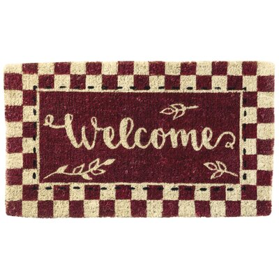 Welcome Checkerboard Doormat