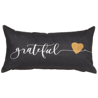 Grateful Sentiment Cotton Lumbar Pillow