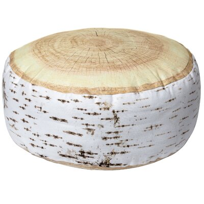 Birch Log Round Cotton Throw Pillow