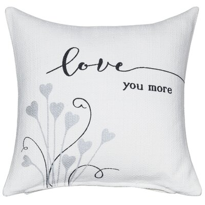 Love You More Sentiment Cotton Throw Pillow