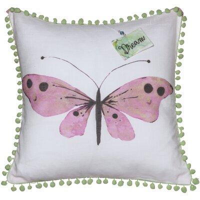 Butterfly Sentiment Cotton Throw Pillow