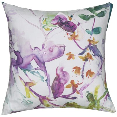 Floral Abstract Sentiment Cotton Throw Pillow
