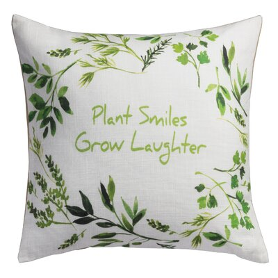Plant Smiles� Herb Cotton Throw Pillow
