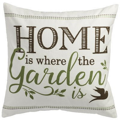 Home Where the Garden Cotton Throw Pillow