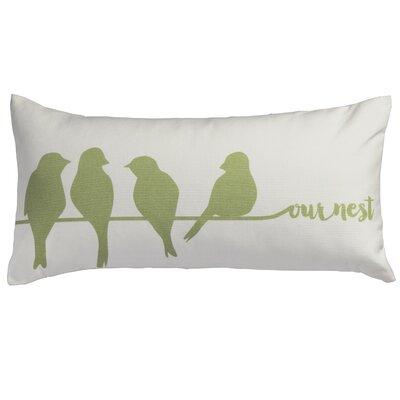 Our Nest Bird Cotton Lumbar Pillow