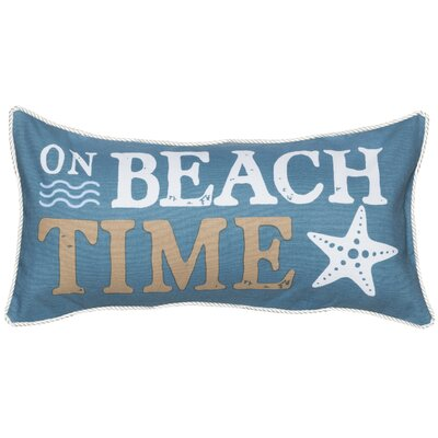 Water`s Edge Beach Time Cotton Lumbar Pillow