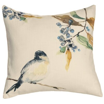 Bird Cotton Throw Pillow