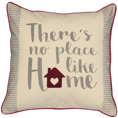 Place Like Home Cotton Throw Pillow