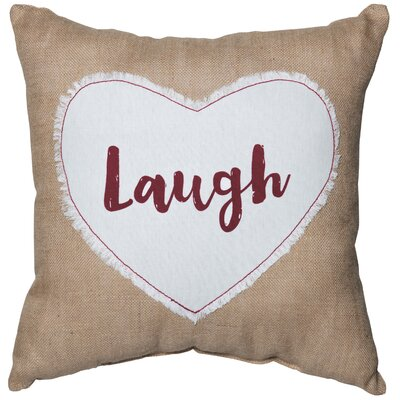 Laugh Sentiment Cotton Throw Pillow